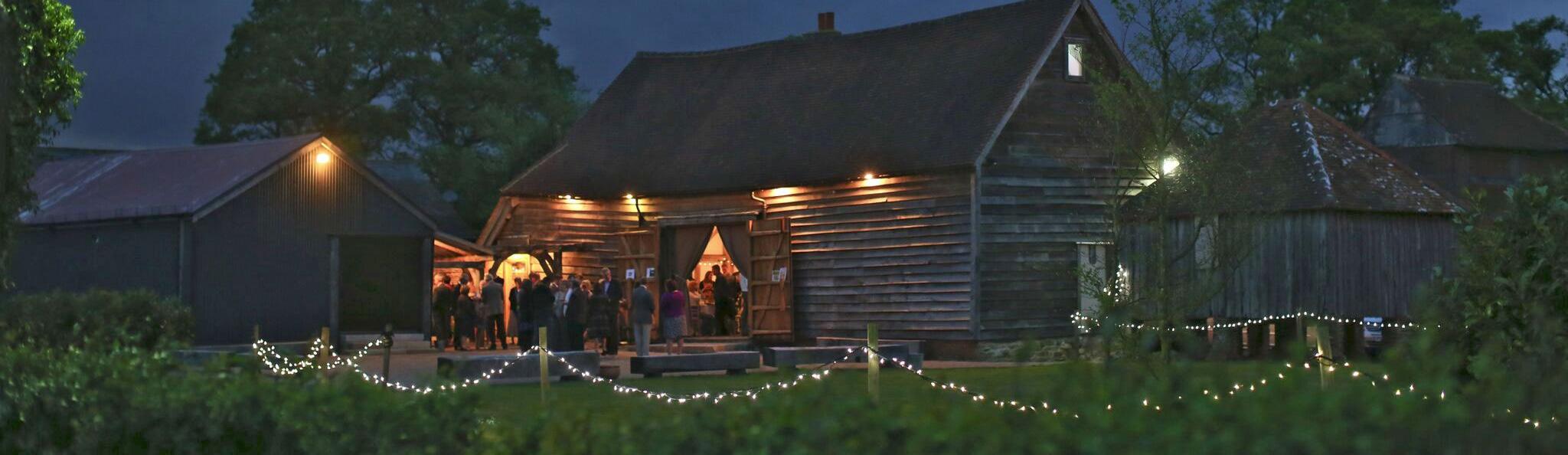 image of the barn at night